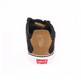 Baskets Levi's en toile noire à intérieur en jean