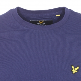 Tee-shirt col rond Lyle & Scott en coton bleu marine