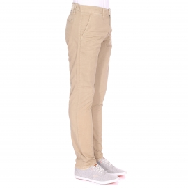 Pantalon slim Meltin'Pot en coton stretch beige