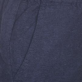 Pantalon chino Zapo Minimum en coton et lin bleu marine
