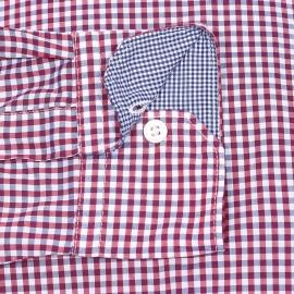 Chemise ajustée Guyamas Napapijri en coton à carreaux blancs, bleu marine et rouges