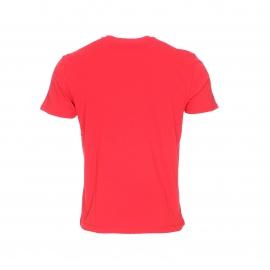 Tee-shirt Saleny Napapijri rouge imprimé du drapeau norvégien