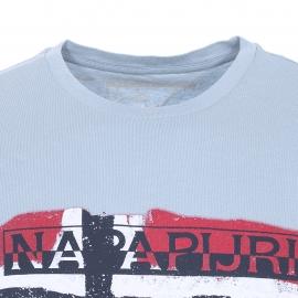 Tee-shirt Saleny Napapijri bleu ciel imprimé du drapeau norvégien
