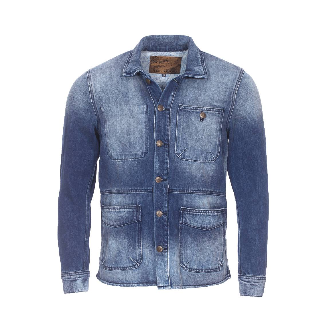 Veste en jean  medium steel bleu
