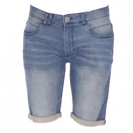 Short Petrol Industries en jean bleu délavé