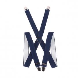 Bretelles Pierre Cardin bleu marine striées