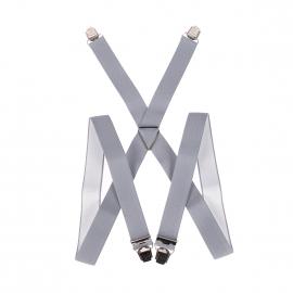 Bretelles Pierre Cardin grises striées