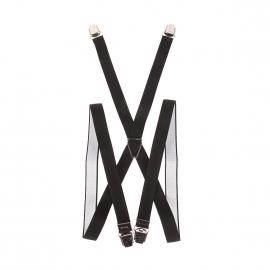 Bretelles slim Pierre Cardin noires striées