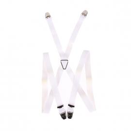 Bretelles slim Pierre Cardin blanches striées
