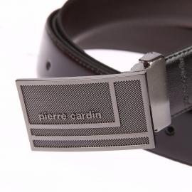 Coffret cadeau Pierre Cardin : Ceinture ajustable et réversible à larges boucles interchangeables fabriquée en France