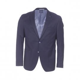 Veste de blazer cintrée Pierre Cardin en laine mélangée bleu marine