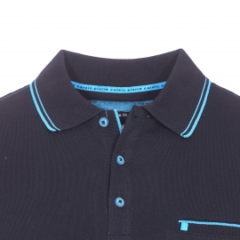 Polo Futureflex Pierre Cardin en coton stretch bleu marine