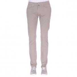 Pantalon ajusté Pierre Cardin en coton gris