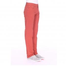 Pantalon ajusté Pierre Cardin en coton brique