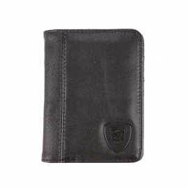 Portefeuille européen Redskins Dearth en simili cuir noir