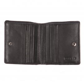 Mini portefeuille Replay en cuir noir