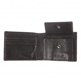 Portefeuille italien Replay en cuir noir