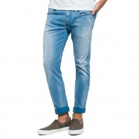 Jean slim Replay Hyperflex en coton strech bleu clair