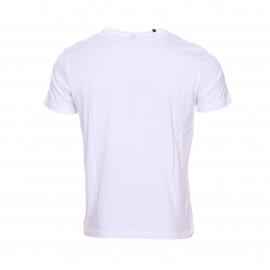 Tee-shirt col rond Replay en coton blanc imprimé d'une photo