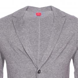 Cardigan S.Oliver boutonné style blazer gris mélangé