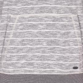 Sweat à capuche S Oliver gris marbré à rayures