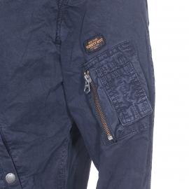 Bomber Clay Schott NYC en coton bleu marine