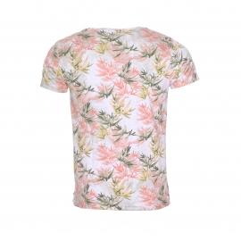 Tee-shirt col rond Scotch & Soda en coton mélangé gris effet tie dye à imprimé floral