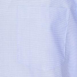 Chemise droite manches courtes Seidensticker en coton bleu ciel, tissage fil à fil