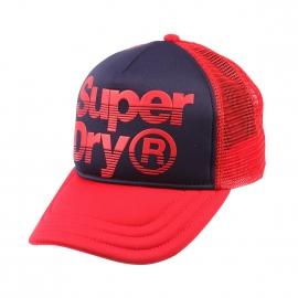 Casquette Superdry bleu marine à visière rouge