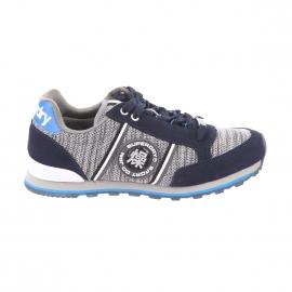 Baskets Fuji Runner Superdry gris chiné et bleu marine
