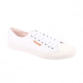 Baskets Low Pro Sneakers Superdry en toile blanche