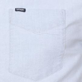 Chemise ajustée Superdry en jean bleu clair