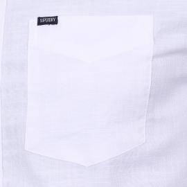 Chemise ajustée Boston Button Down Superdry en coton blanc