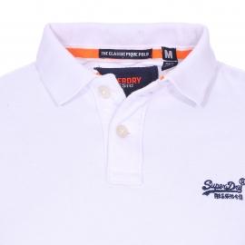 Polo Superdry Classic en maille piquée blanche