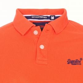 Polo Superdry Classic en maille piquée orange