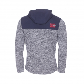 Veste zippée à capuche Superdry New Classics gris chiné et bleu marine