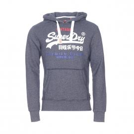 Sweat à capuche Superdry bleu jean chiné