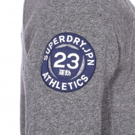 Sweat zippé Superdry anthracite, coupe bomber