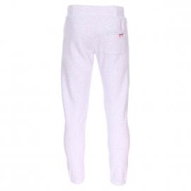 Pantalon de jogging Superdry en coton mélangé gris clair floqué