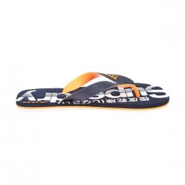 Tongs Scuba Flip Flop Superdry bleu marine floquées en blanc et orange