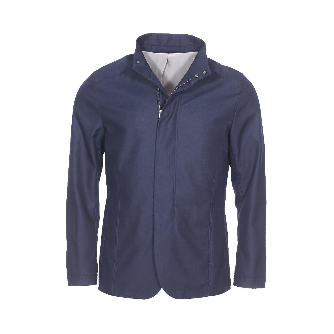 Veste  bleu marine à col droit