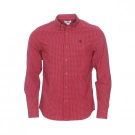 Chemise cintrée Timberland à carreaux vichy rouges et noirs