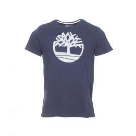 Tee-shirt col rond Timberland Pattern Tree bleu marine