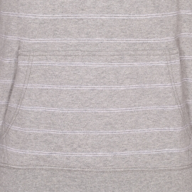 Sweat à capuche Adel Tommy Hilfiger gris chiné à rayures blanches