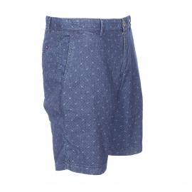 Short Brooklyn Tommy Hilfiger en chambray bleu foncé à broderies