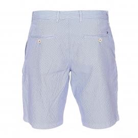 Short Brooklyn Tommy Hilfiger en coton à fines rayures bleues et blanches