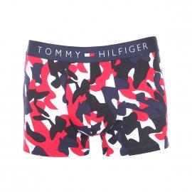 Boxer Tommy Hilfiger en coton stretch à motifs camouflages blancs, noirs, bleu marine et rouges
