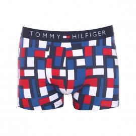 Boxer Tommy Hilfiger en coton stretch à carreaux graphiques bleus, blancs et rouges