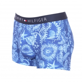 Boxer Tommy Hilfiger en coton stretch bleu clair à imprimés fleuris