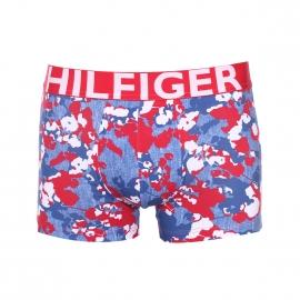 Boxer Tommy Hilfiger en coton stretch bleu jean à fleurs rouges et blanches